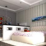 дизайн разделение пространства в спальне