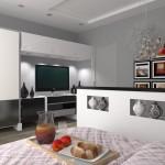 разделение пространства в спальне