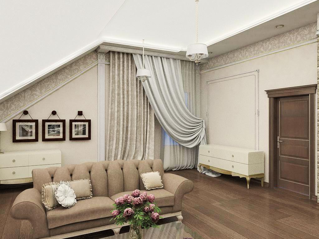 Ремонт гостиной комнаты в частном доме в Ялте