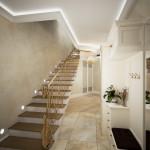 дизайн лестницы в прихожей профремонт