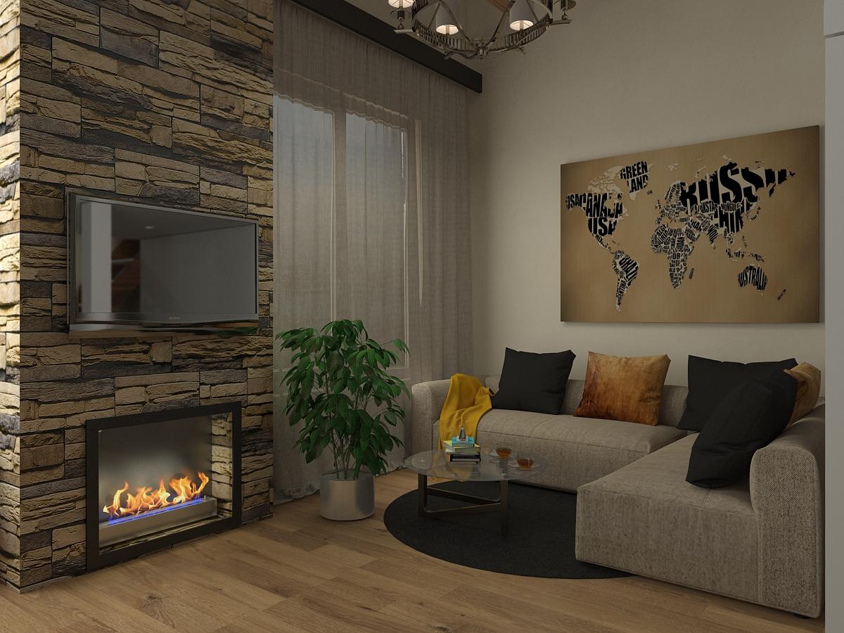 Дизайн-проект гостиной в Севастополе - ПрофРемонт
