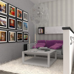 коллаж из картин на стене