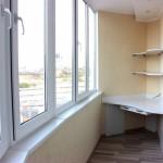 рабочая зона на балконе профремонт