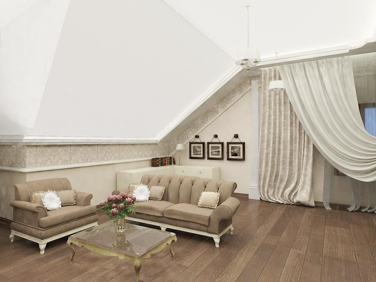 Ремонт в зале в частном доме в Ялте