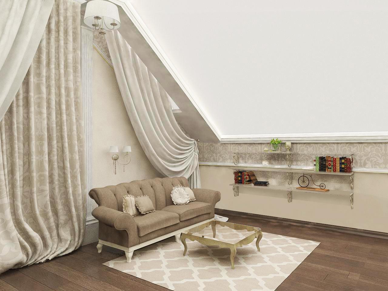 Ремонт гостиной в частном доме в Ялте