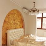 фото арки над кроватью слева