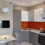 фото кухни и столовой по центру